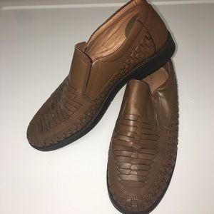 IRVINE PARK Shoes - IRVINE PARK Men's Brown Leather Size 9M Loafer